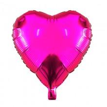 Фольгированный шар сердце розовое