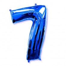 Фольгированная цифра 7 синяя (102 см)