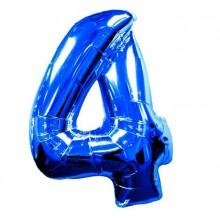 Фольгированная цифра 4 синяя (102 см)