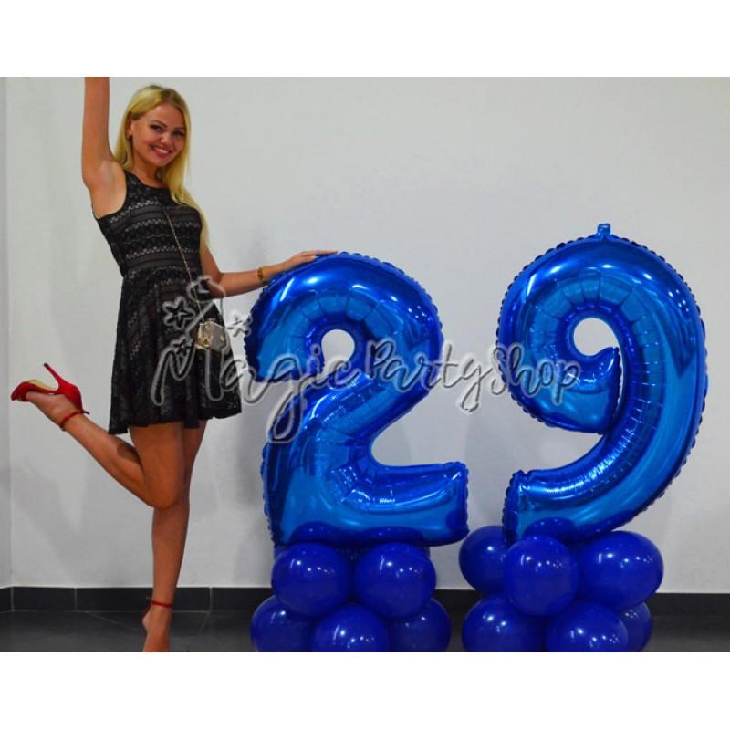 Фольгированная цифра 1 синяя (102 см)