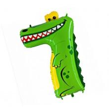 Шар цифра-зверушка 7 (Крокодил)