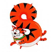 Шар цифра-зверушка 8 (Котик)