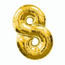 Фольгированная цифра 8 золото (102 см)