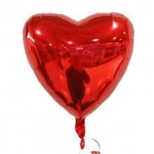 Фольгированный шар сердце красное