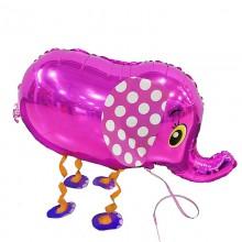 Ходячий шар Слоник розовый