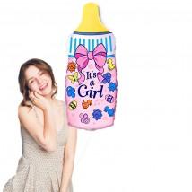 Фольгированный шар Бутылочка с соской (девочка)