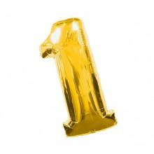 Фольгированная цифра 1 золото (102 см)