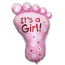 Фольгированный шар ножка Its a Girl!