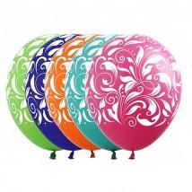 Набор шаров с рисунком Узоры 10 штук