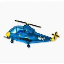 Фольгированный шар Вертолёт синий