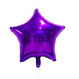 Фольгированный шар звезда фиолетовая