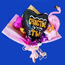 """Букет из фольгированных шаров """"Фламинго"""""""