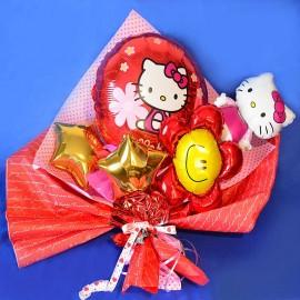 Букет из фольгированных шаров Китти