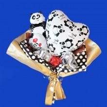 """Букет из фольгированных шаров """"Панда"""""""