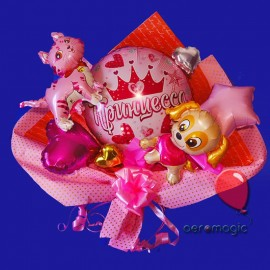 Букет из фольгированных шаров Принцесса