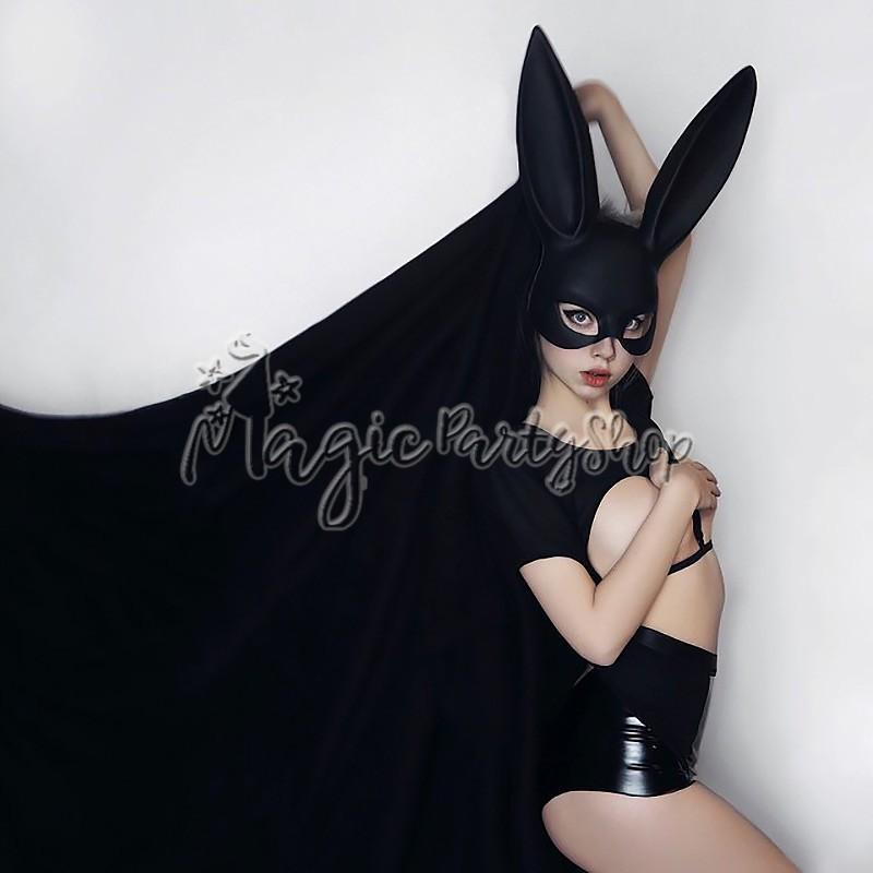 Маска Кролика Черная Model Playmate