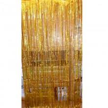 Шторка (дождик) для фотозоны цвет золото