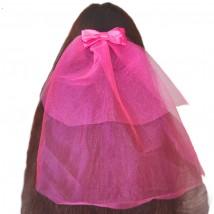 Фата розовая на девичник