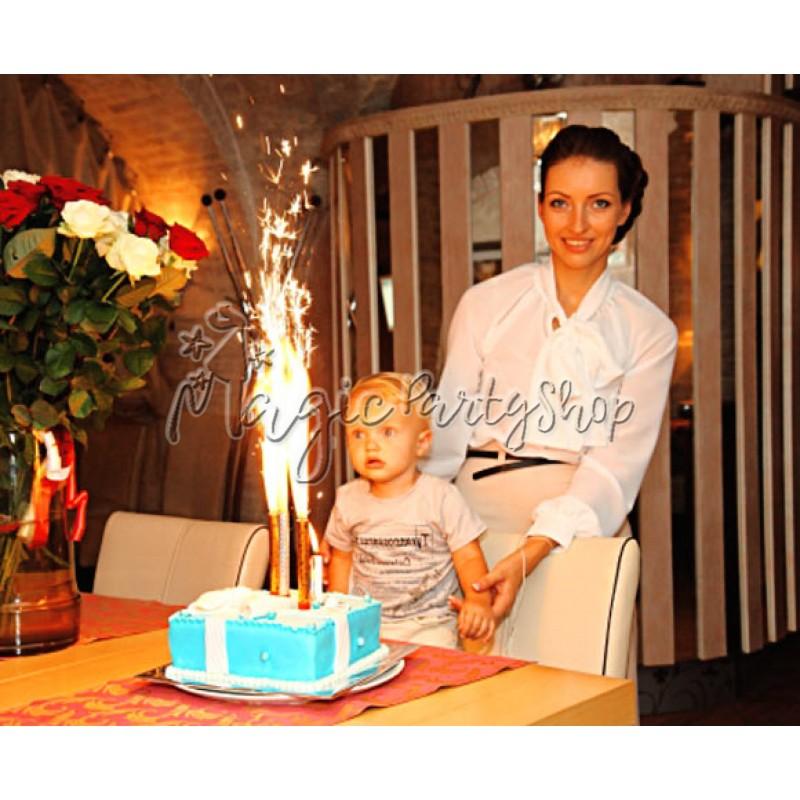 Фейерверки (фонтаны) в торт 12 см 4 шт