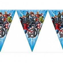 Флажки-гирлянда Мстители Супергерои (Avengers)