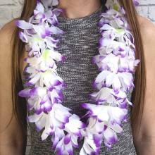 Бусы, ожерелье на Гавайскую вечеринку (леи сиреневые)