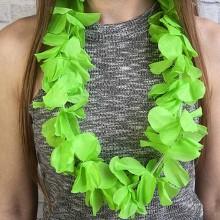 Бусы, ожерелье на Гавайскую вечеринку (леи зеленые)