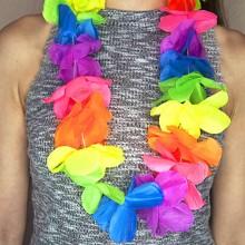 Бусы, ожерелье на Гавайскую вечеринку (леи разноцветные)