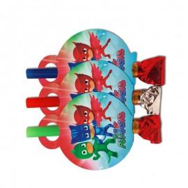 Язычки-гудки (дудки) Герои в масках 6 шт