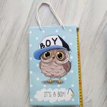 Пакет подарочный Совенок Its a Boy 170х260х80