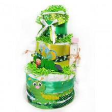 Торт из памперсов Волшебный Сад