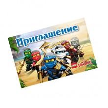 Пригласительные Лего Ниндзяго