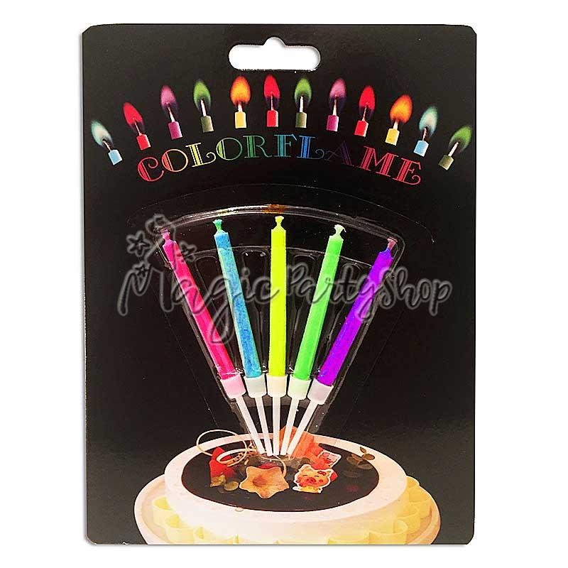 Свечи с азноцветным пламенем