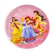 Тарелки одноразовые Принцессы