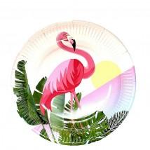 Тарелки бумажные Фламинго 10 шт