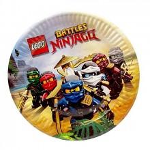 Тарелки Лего Ниндзяго 10 шт
