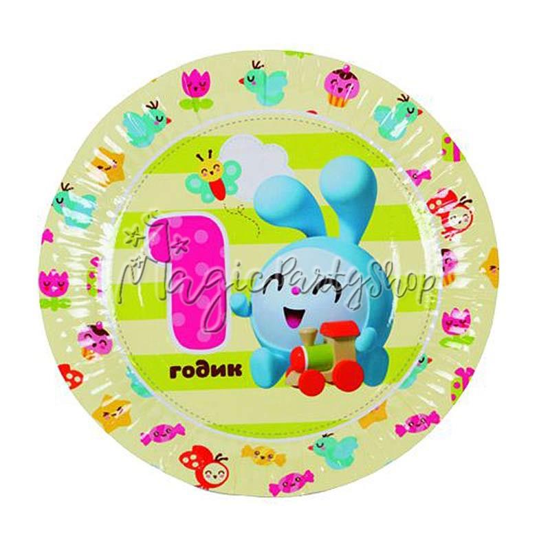 Тарелки бумажные Малышарики 6 шт
