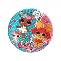 Тарелки бумажные Куклы ЛОЛ 10 шт