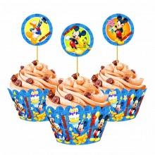 Топперы для капкейков (кексов) Микки Маус