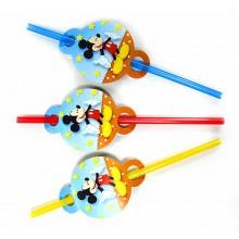 Трубочки для сока Микки Маус 8 шт