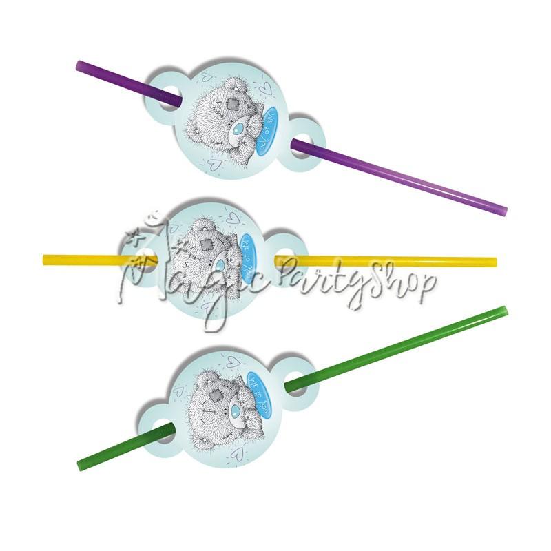 Трубочки для сока Мишка Тедди 8 шт
