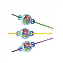 Трубочки для сока Герои в масках 10 шт