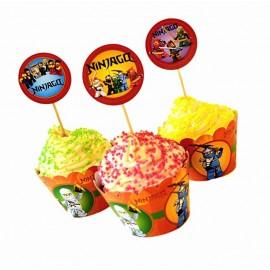 Топперы для капкейков (кексов) Лего Ниндзяго