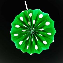 Фант зеленый горошек (бумажный веер)