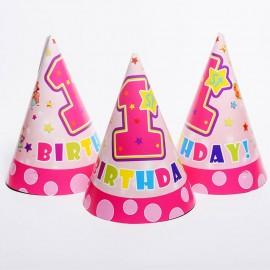 Колпачки  Первый День рождения (девочка)