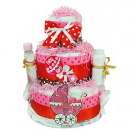Торт из памперсов Baby Girl